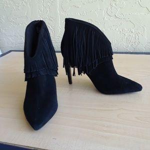 Topshop black fringe shoes